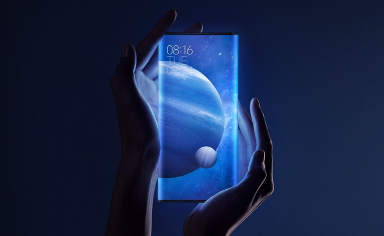 A pair of hands is holding a smartphone with impressive new technology.