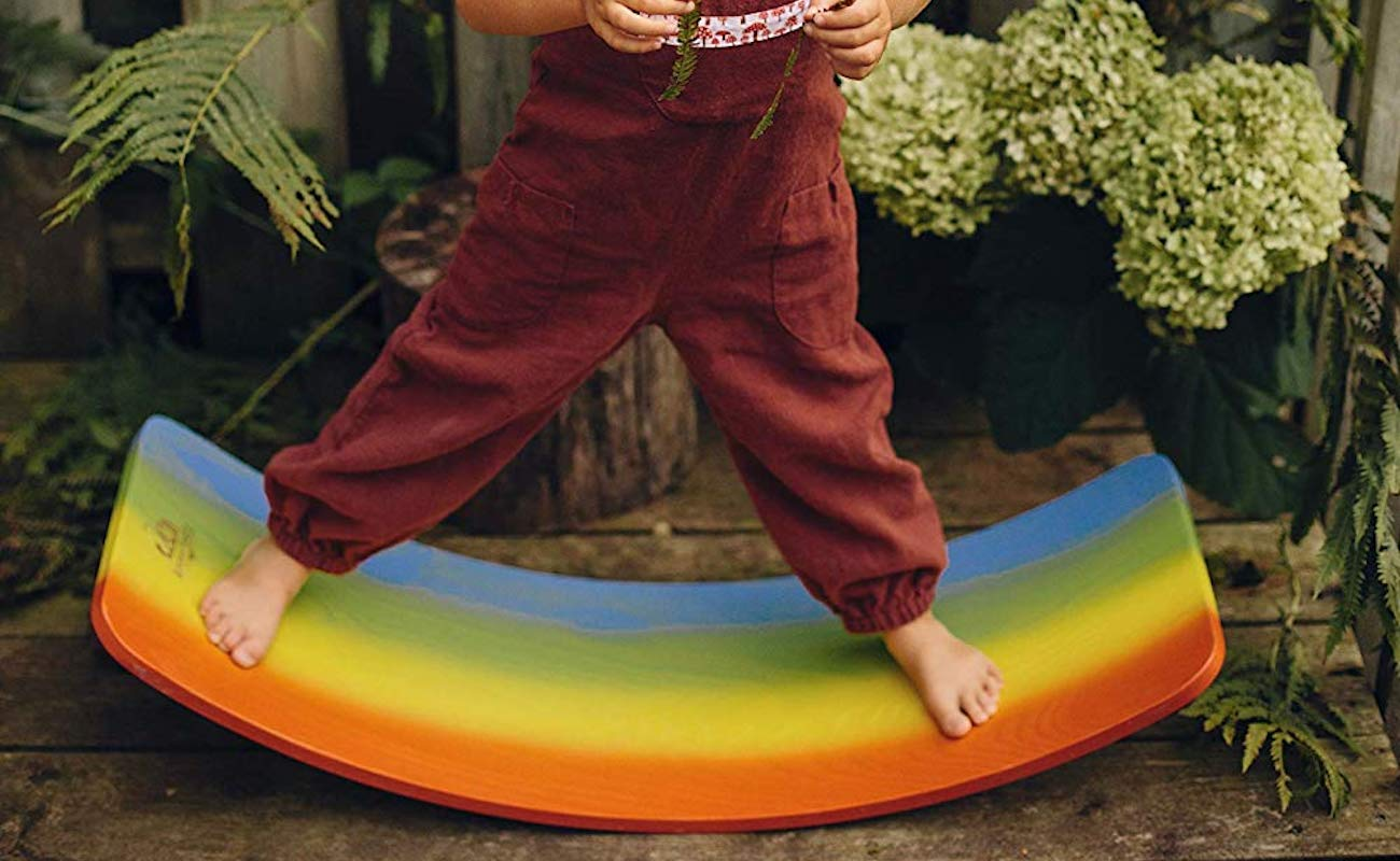 Kinderfeets Kinderboard Kids' Balance Board provides a variety of different playtime uses