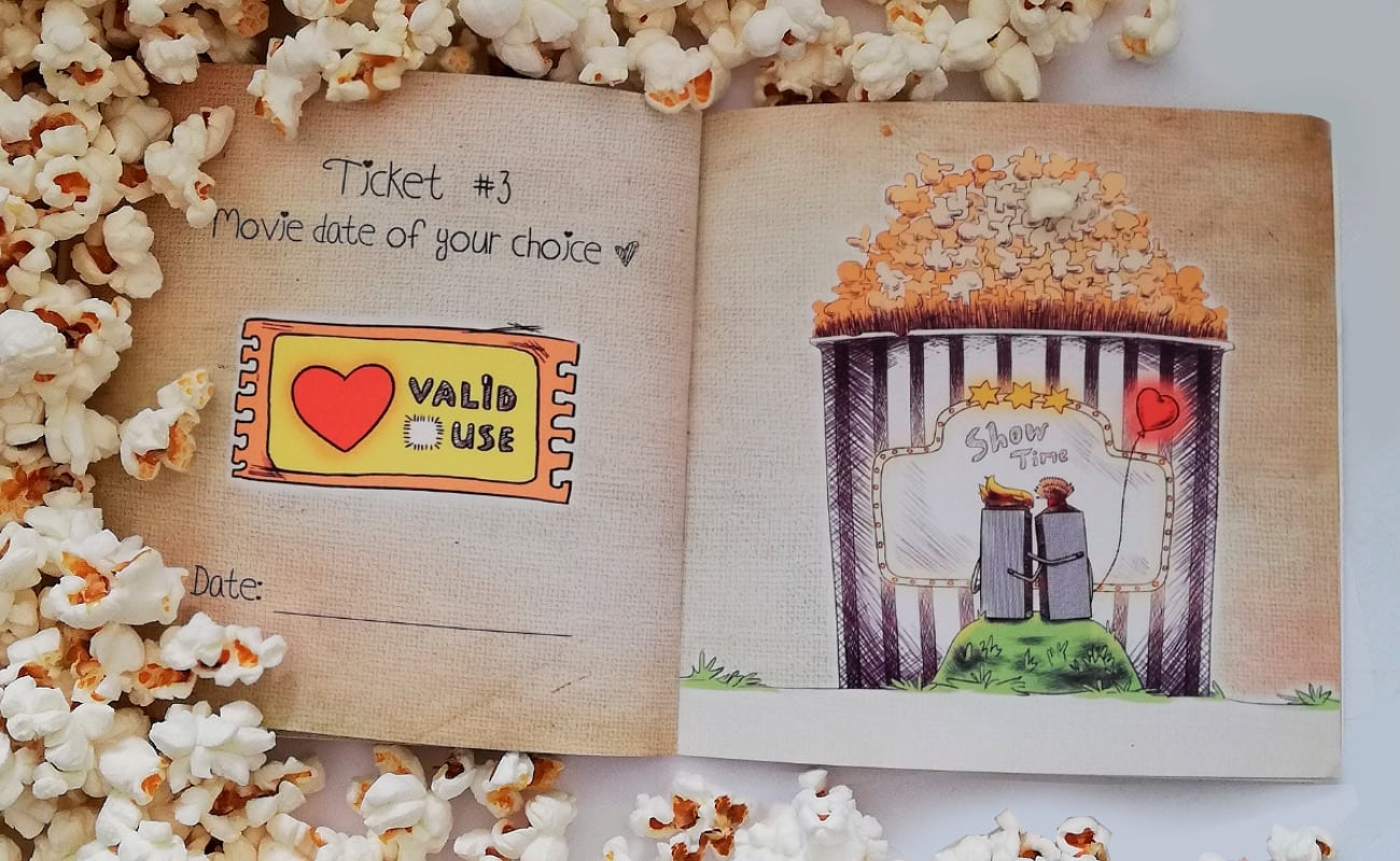 "Love Tickets by Story No. 9 Personalized Books give you ways to say ""I love you"""