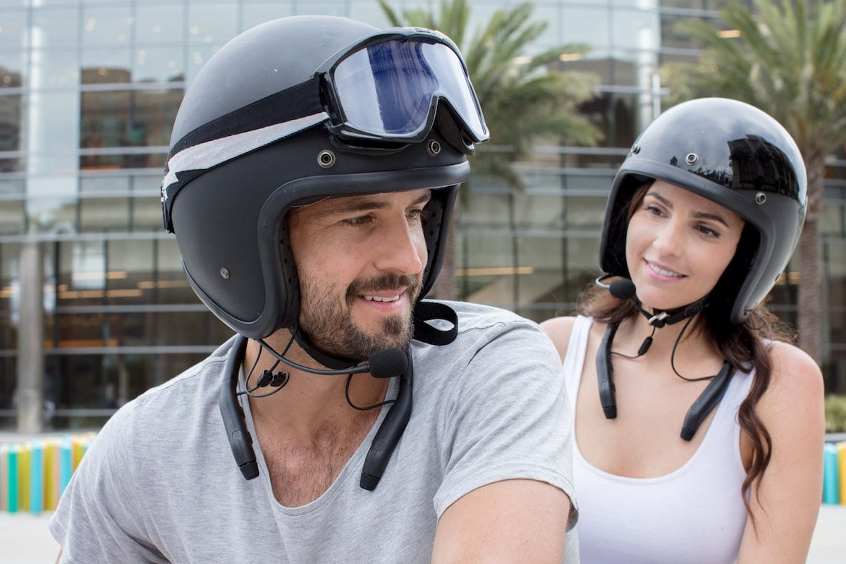 MPlus Noise Canceling Biker Headphones with Bluetooth intercom let you choose how much of the world you want to hear