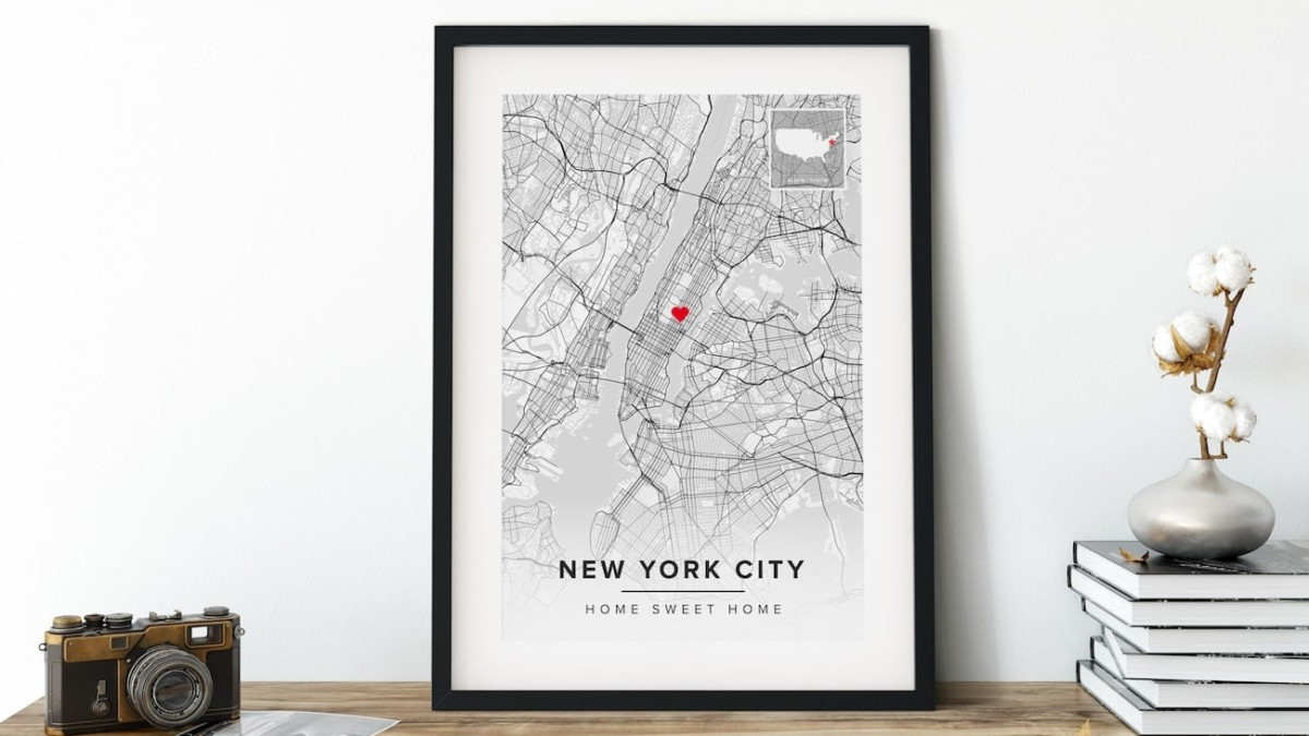 Maps of the World Custom Map Wall Art comes with a handmade wooden frame