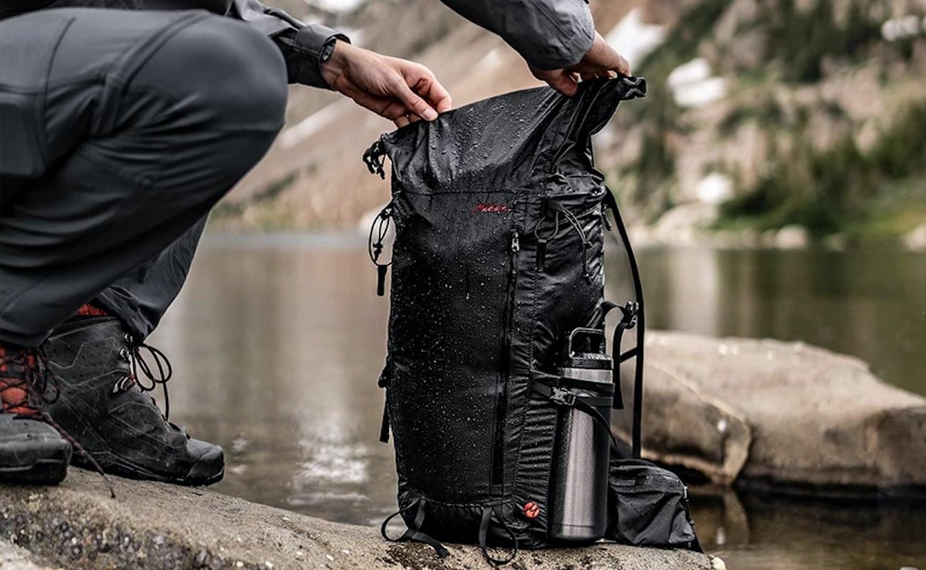 Matador Freerain32 Ultralight Waterproof Backpack packs 32 liters in a half-pound shell