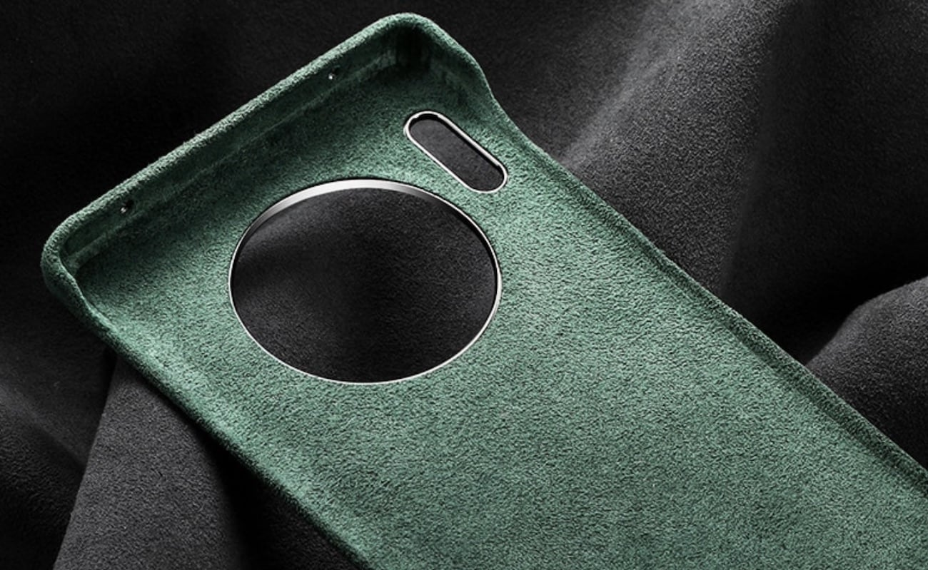 Modern Alcantara Huawei Mate 30 Case is soft to the touch