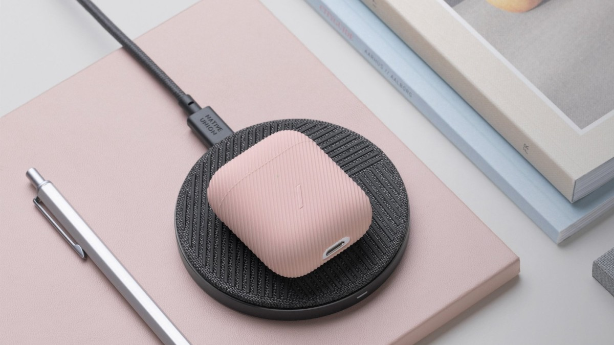 Native Union Curve Silicone AirPods Case has a modern textured exterior for grip and style