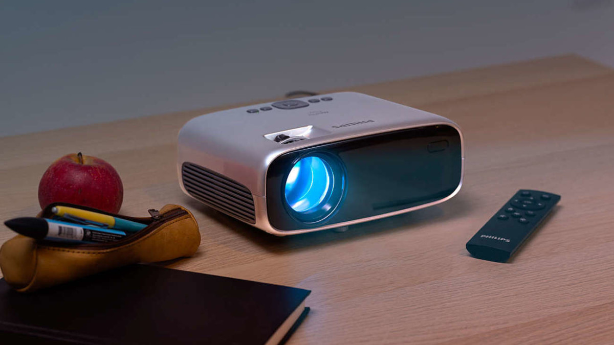 Philips NeoPix Easy+ Mini Projector is adjustable from anywhere in the room