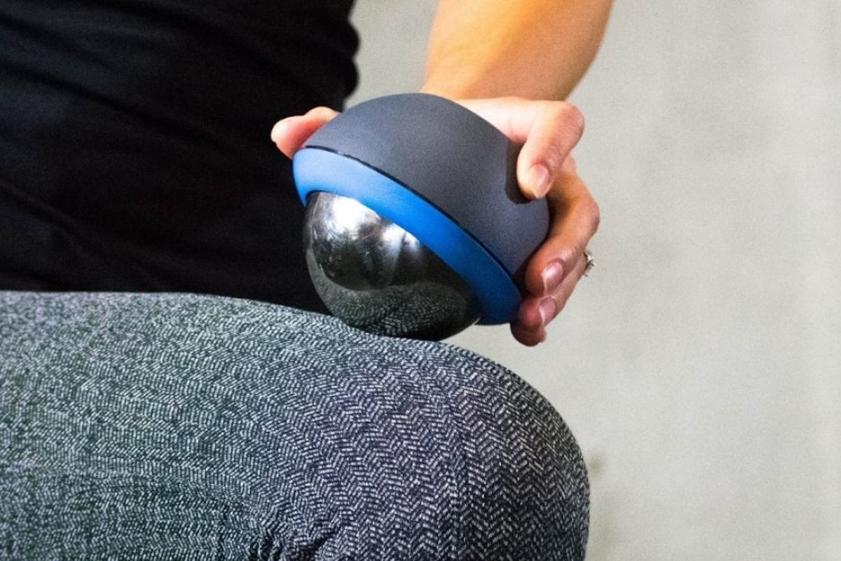 Recoup Cryosphere Cold Massage Roller Ball provides portable, compact ice therapy