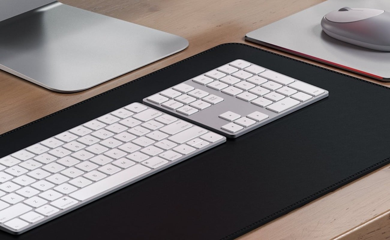 Satechi Bluetooth Extended Keypad Sleek Keyboard provides a numpad, shortcut keys, and more