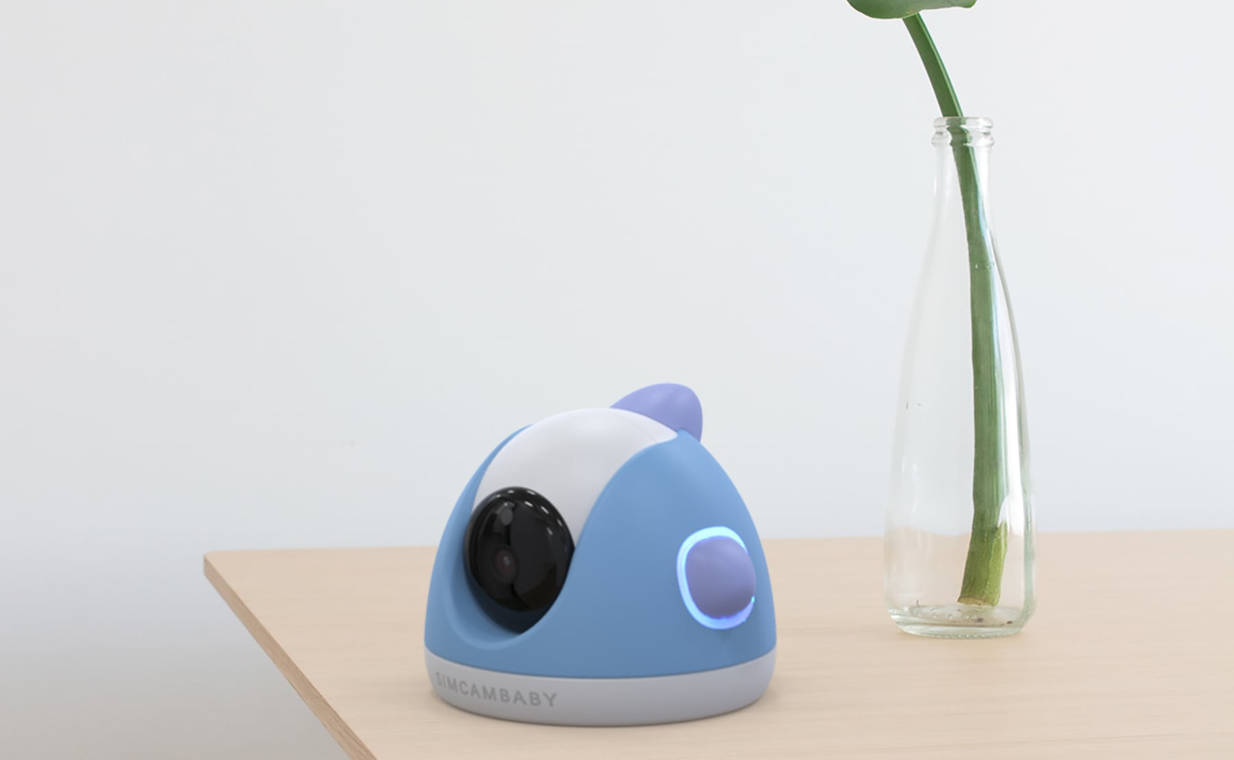 SimCam Baby Smart Detecting Baby Monitor notifies you when your baby's face is covered