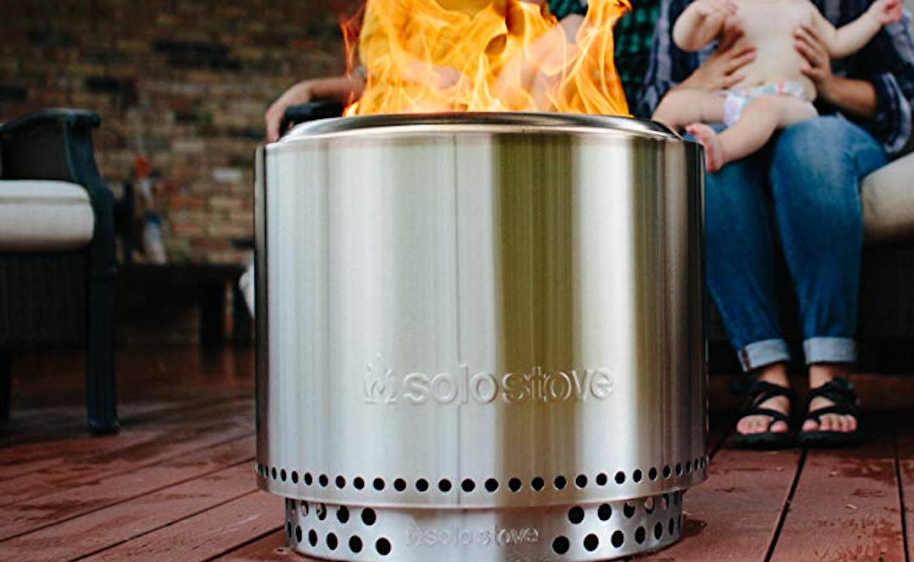 Solo Stove Bonfire Backyard Fire Pit has a double-walled design to maximize airflow