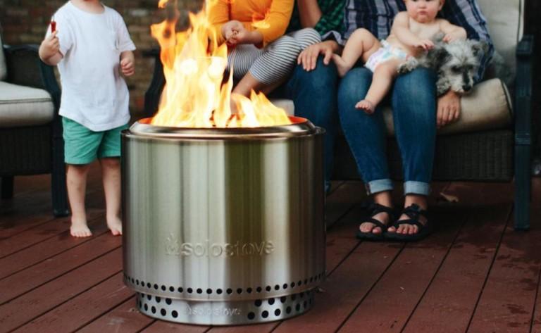 Solo Stove Bonfire Backyard Fire Pit has a double-walled design to maximize airflow