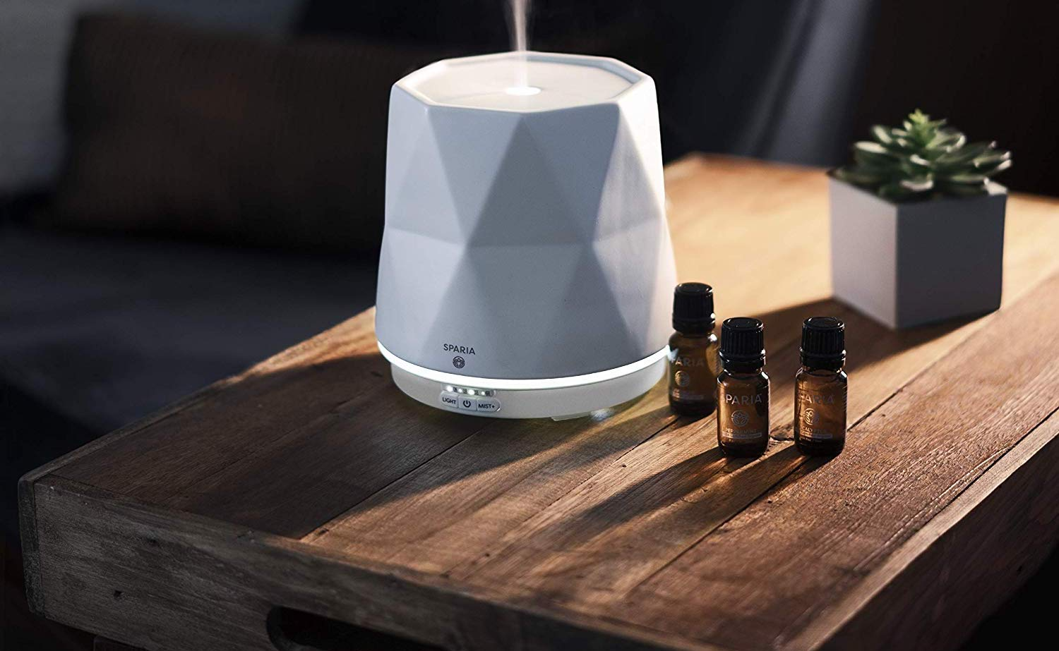 Sparia Ultrasonic Aroma Diffuser emits a relaxing mist into your room