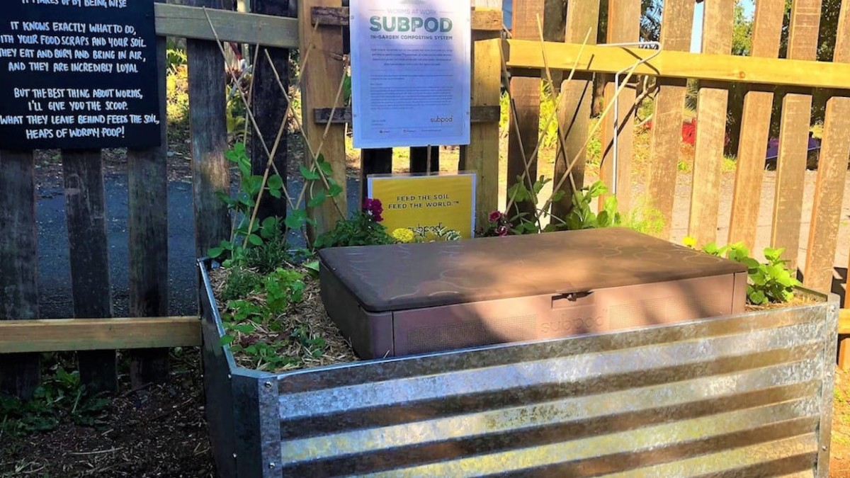 Make composting easy with this innovative underground compost pod