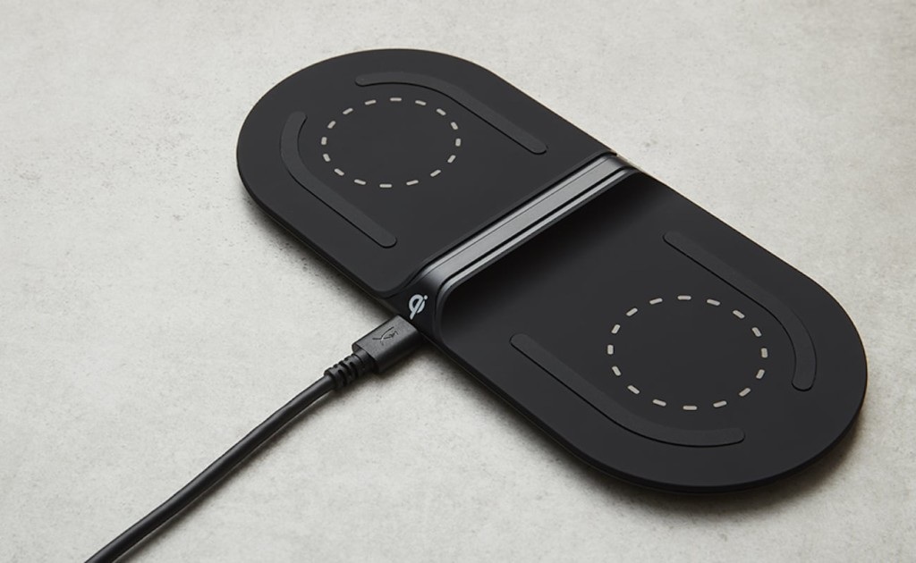 A black latest tech gadgets charging pad.