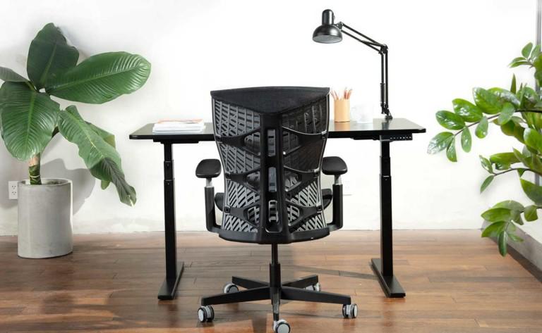 Kinn Chair at desk