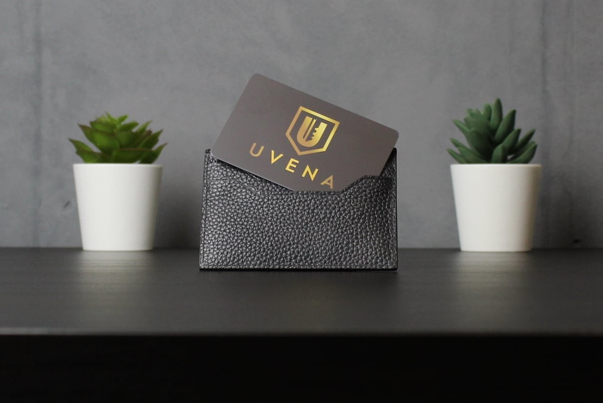 UVENA RFID-Blocking Card fits right inside your wallet