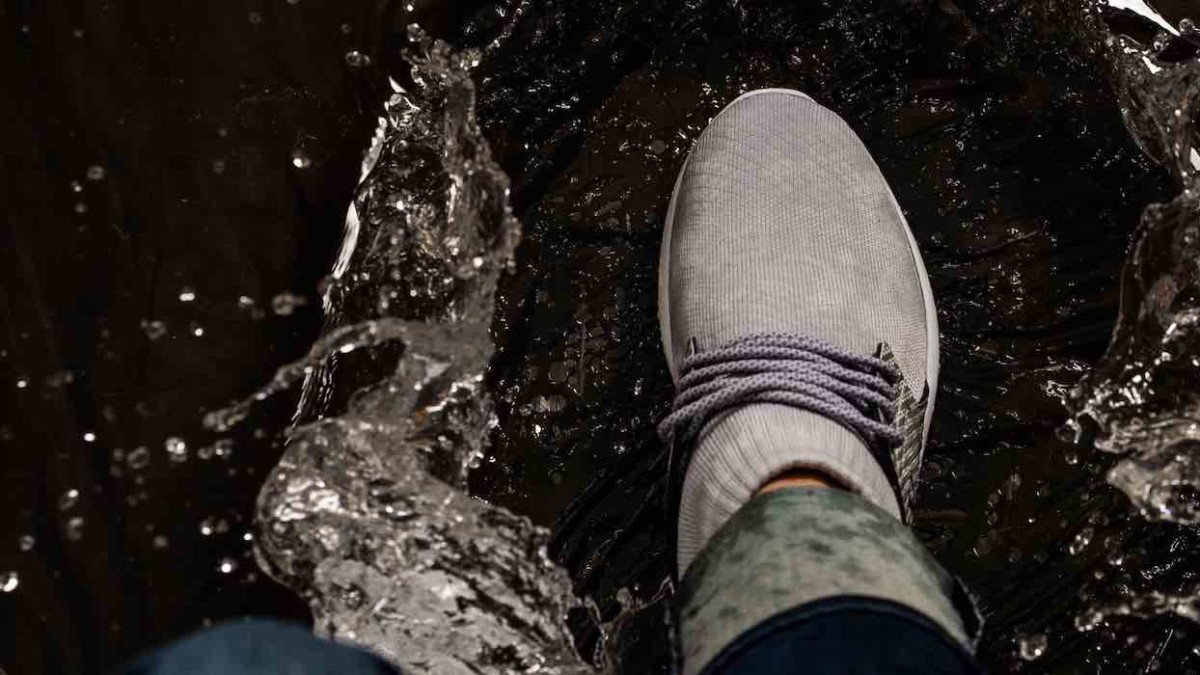 Run in the rain with these high-top waterproof shoes