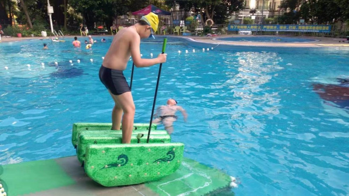 Walk on Water Buoyant Strider lets you travel across the surface completely upright