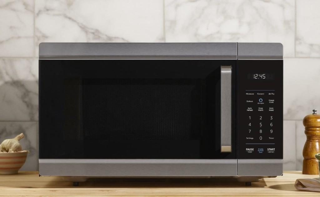 The face of a kitchen accessories and gadgets smart microwave.