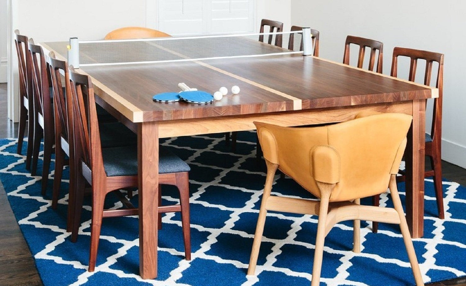 Winston Ping Pong Dining Table adds a touch of sporty fun to mealtime