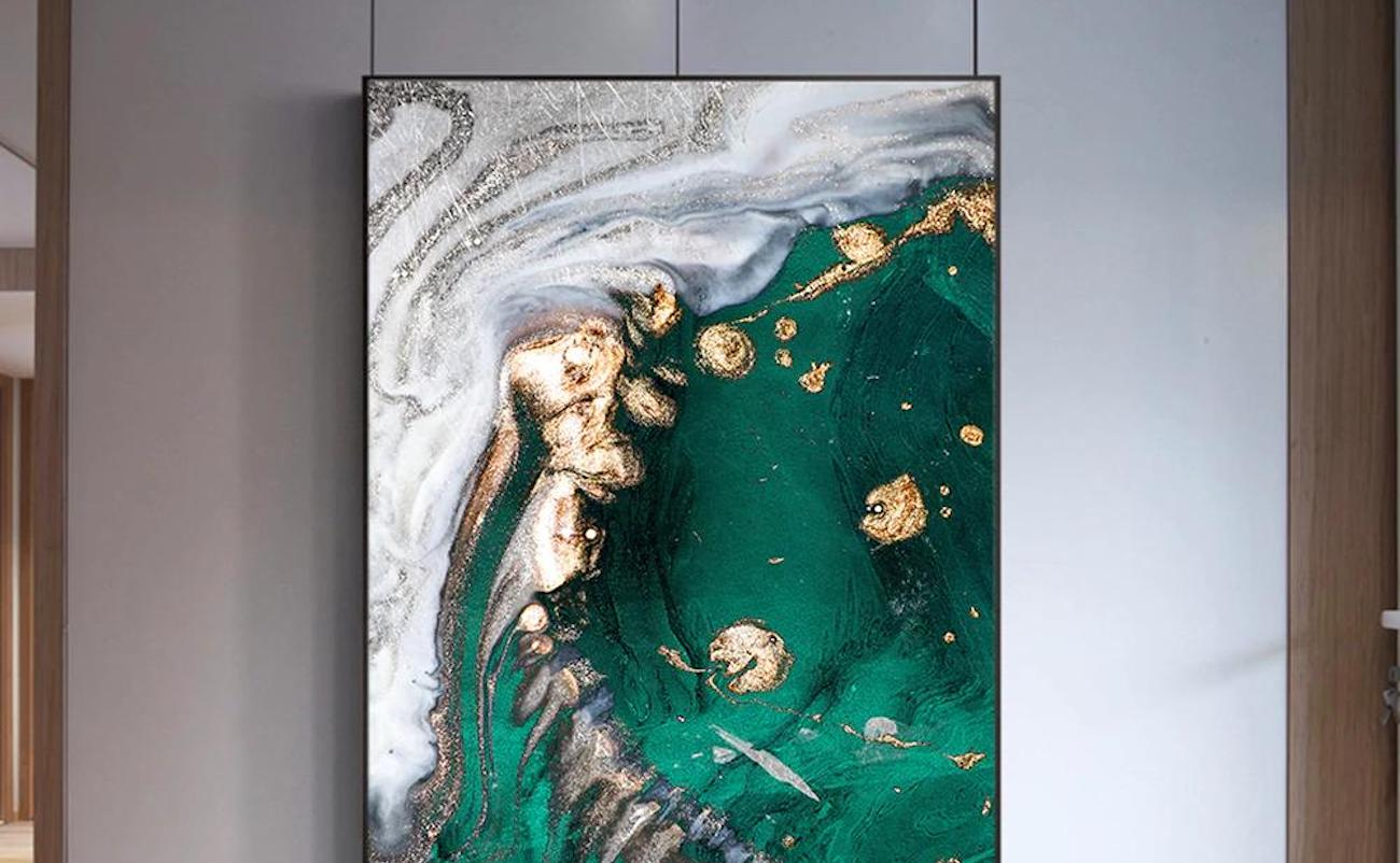 Abstract Gold Foil HD Poster is modern yet inspiring