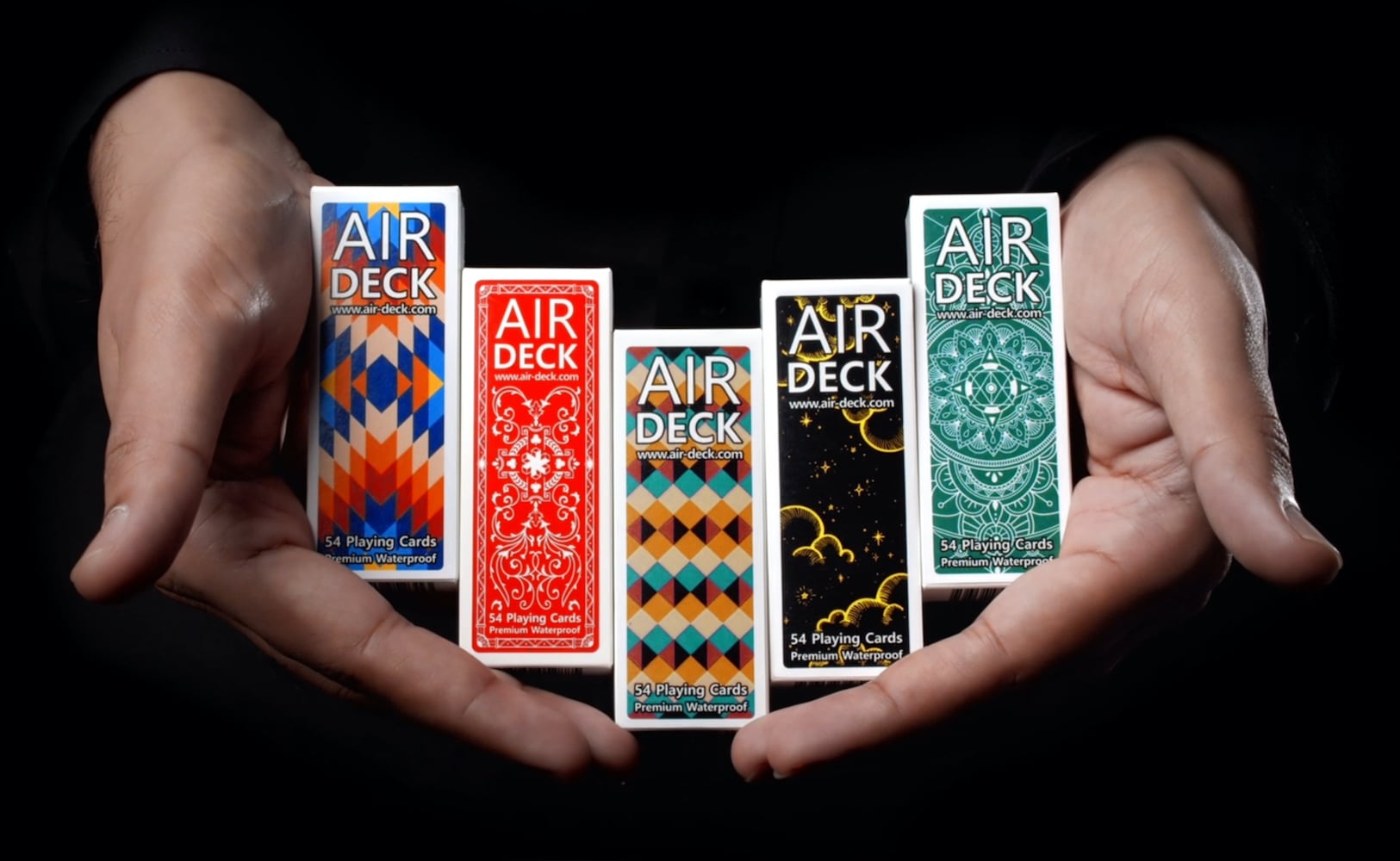 Air Deck 3.0 Travel-Optimized Playing Cards are durably made for taking and playing anywhere