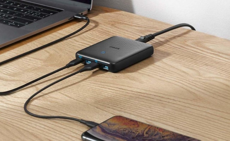 Anker PowerPort Atom III Slim 4-Port 65W Charger powers up your laptop at full speed
