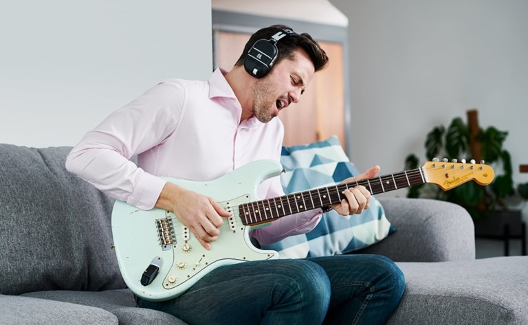 BOSS WAZA-AIR Wireless Personal Guitar Amp uses spatial technology to fill the room with sound