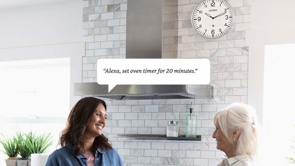 Citizen Clocks CC5012 Smart Wall Clock responds to Amazon Alexa voice commands