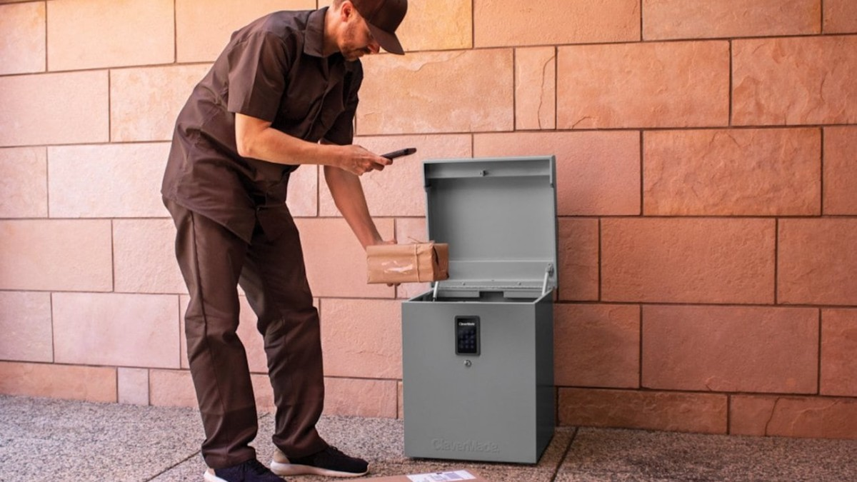 This package locker protects your deliveries from theft