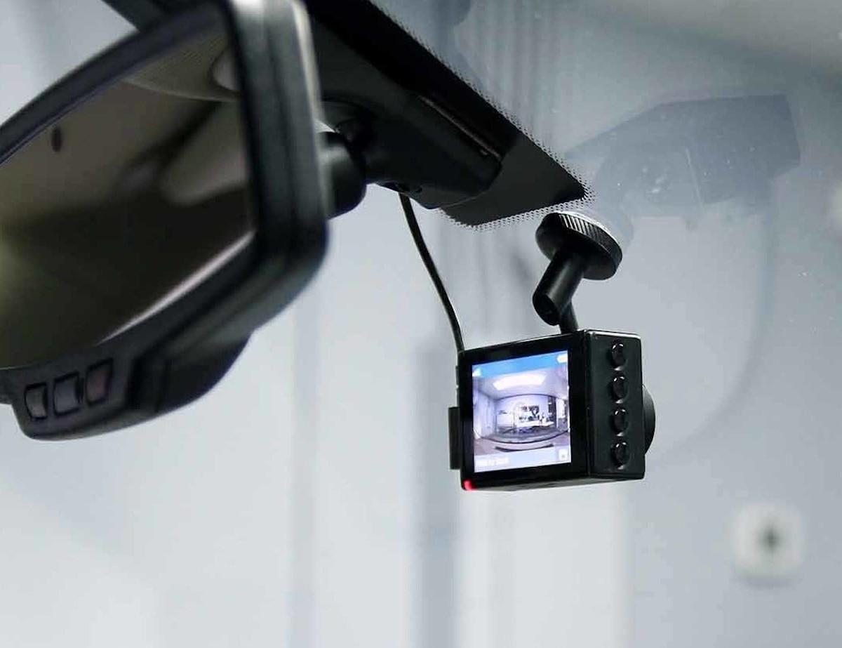 Garmin Dash Cam 66W Wide-Angle Dashcam captures a 180-degree field of view