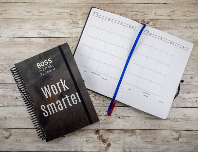 BOSS Personal Planner Personal Productivity Notebook