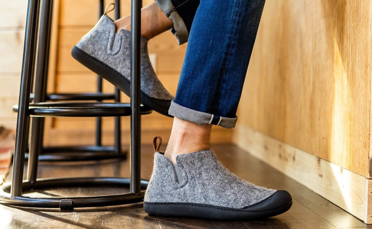 Greys The Outdoor Slipper Wool Boot keeps your feet toasty indoors and outside