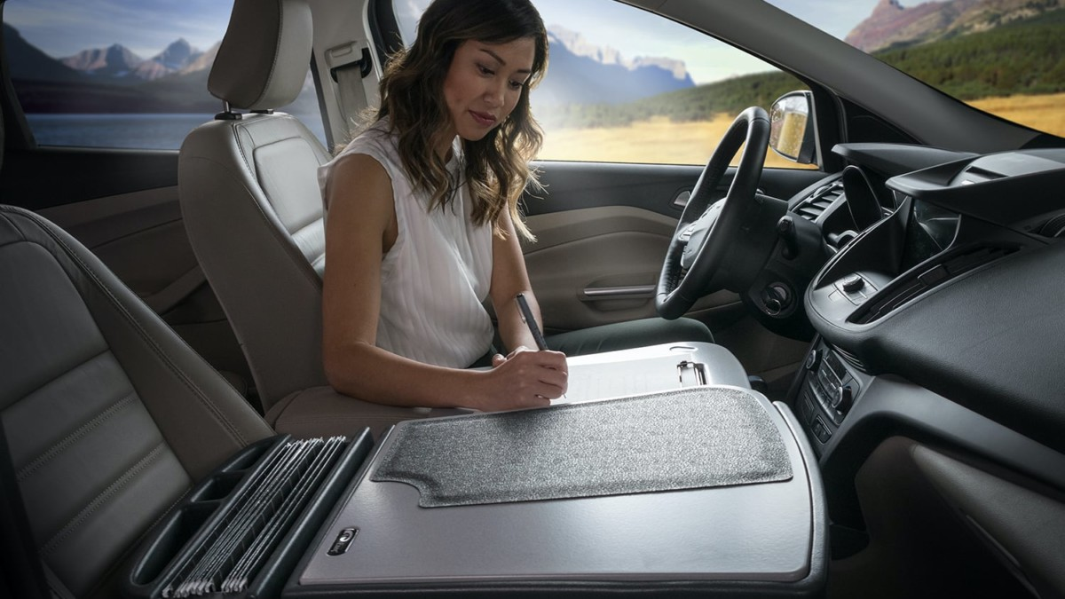 GripMaster by AutoExec Vehicle Desk makes it easy to get work done in your car