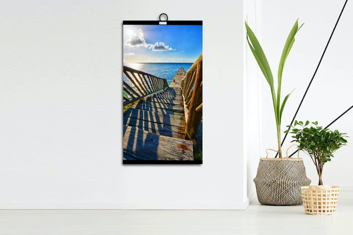 Invroheat Infrared Decorative Heater looks like a piece of artwork on your wall