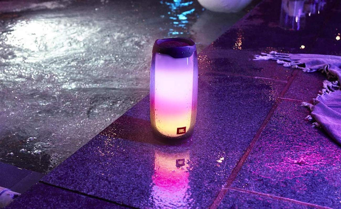 JBL Pulse 4 Light Show Speaker emits 360-degree lights that align with your music