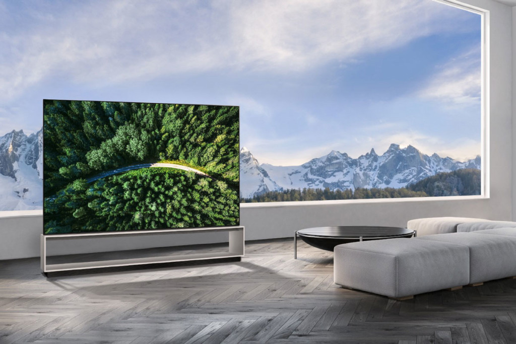 LG Real 8K OLED Ultra HD TV in a Home Setup CES 2020