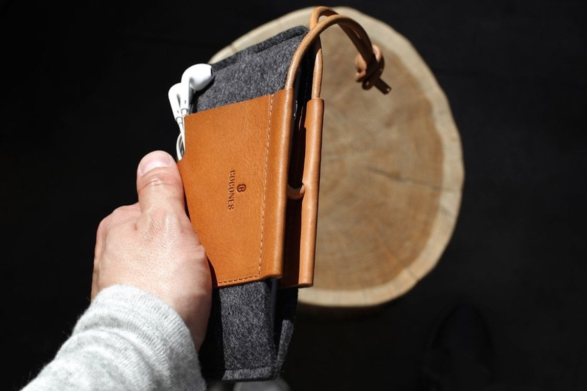Loop iPhone 11 Wallet Case by Cocones can be personalized with a name or initial