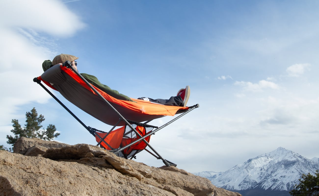 Mock ONE Portable Folding Hammock sets up in 60 seconds