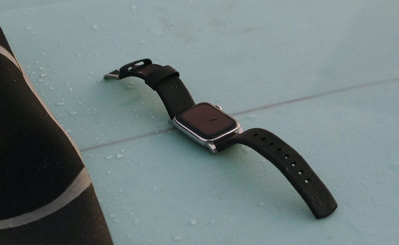 Nomad Active Straps Waterproof Leather Apple Watch Straps support your adventures