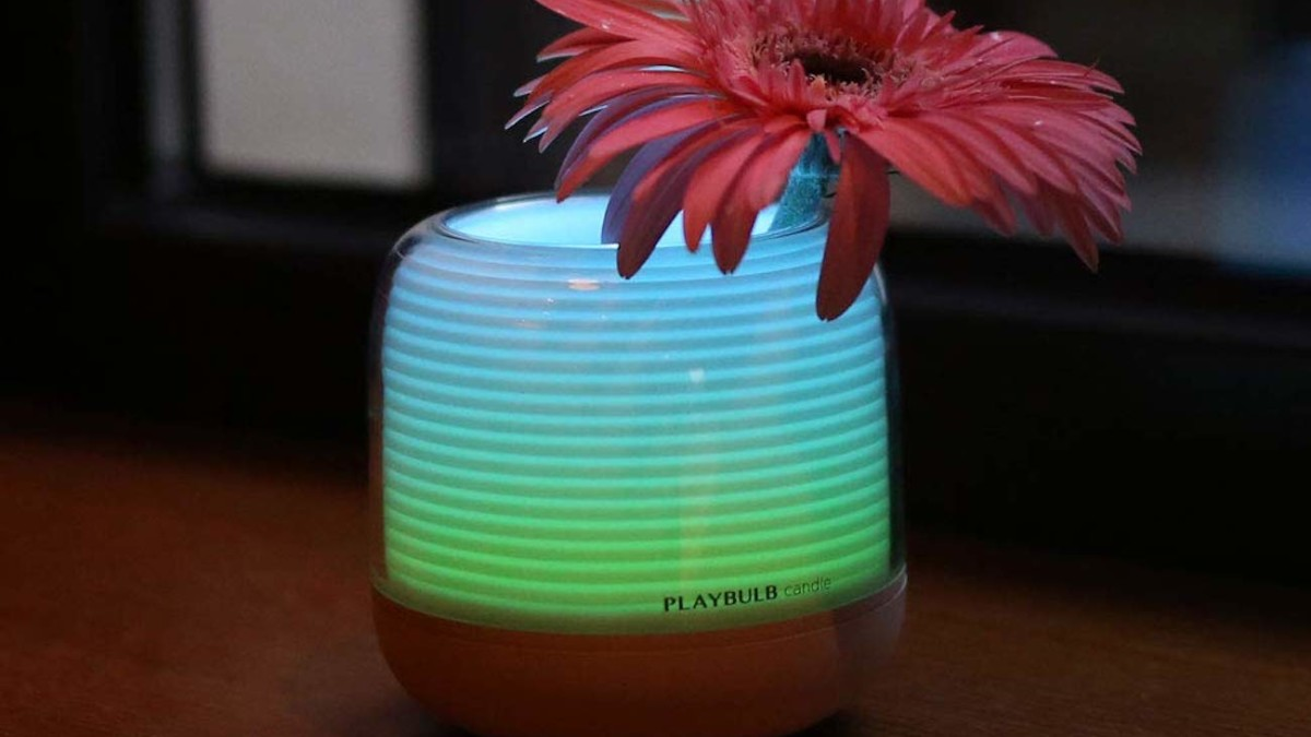 PLAYBULB Candle Pro Smart Bluetooth Light provides a warm, flameless atmosphere