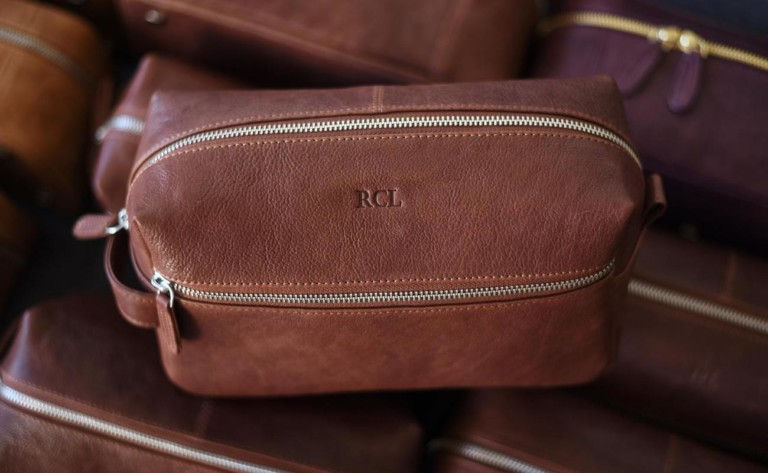 Personalized Leather Toiletry Bag consists of super durable components