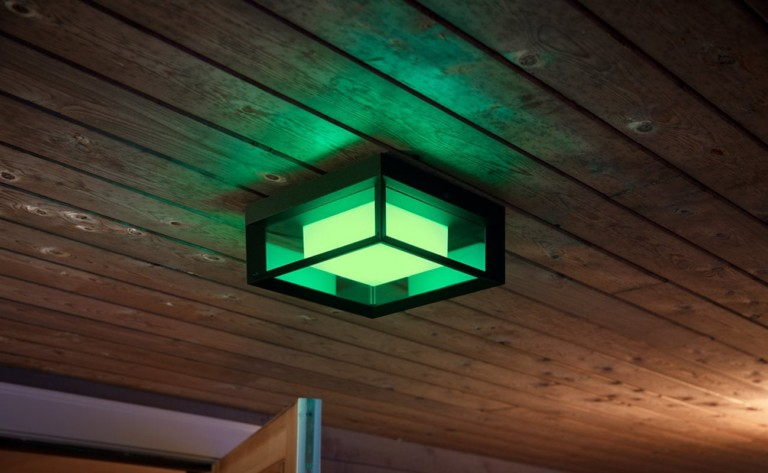 Philips Hue Econic Outdoor Wall Lights provide millions of LED color options