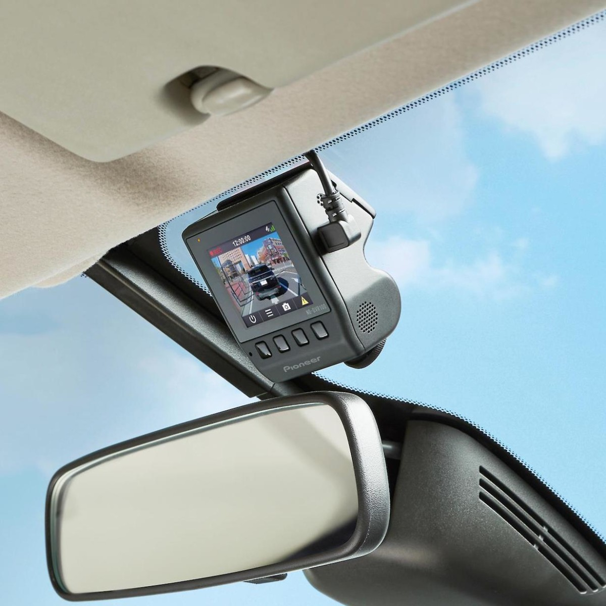 Pioneer ND-DVR100 Small Dashcam mounts discreetly in your vehicle