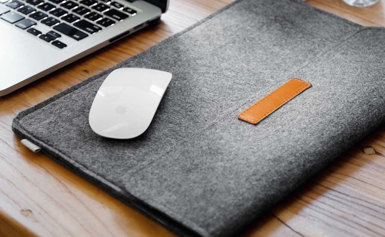 Protective Foldover Felt MacBook Sleeve is as practical as it is stylish