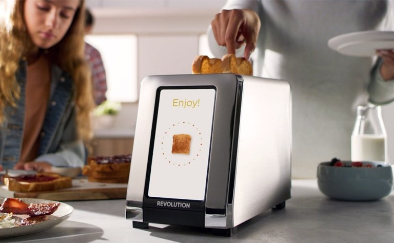 Revolution Cooking R180 high-speed smart toaster customizes your toast how you like it