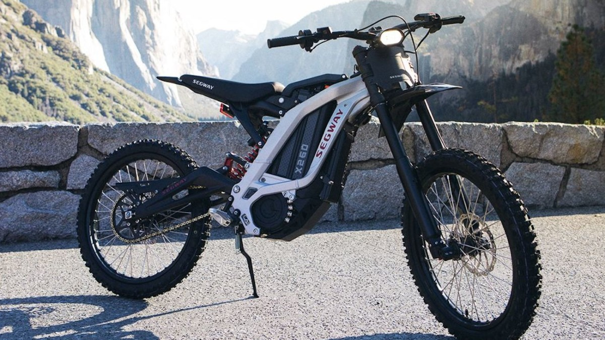 Segway X160 & X260 Dirt eBike Electric Off-Road Bicycles act as hybrid mountain and dirt bike