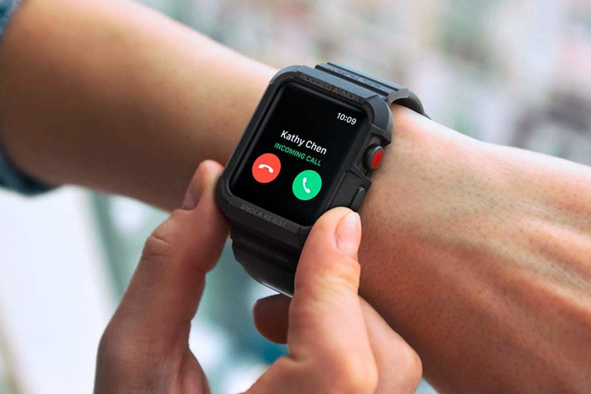Spigen Rugged Armor Pro Defensive Apple Watch Case protects your smartwatch from daily use