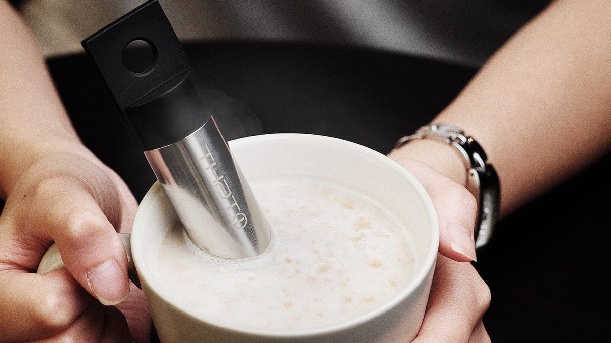 THAT! Coolstick Drink Chiller quickly brings your hot drink down to a comfortable temperature