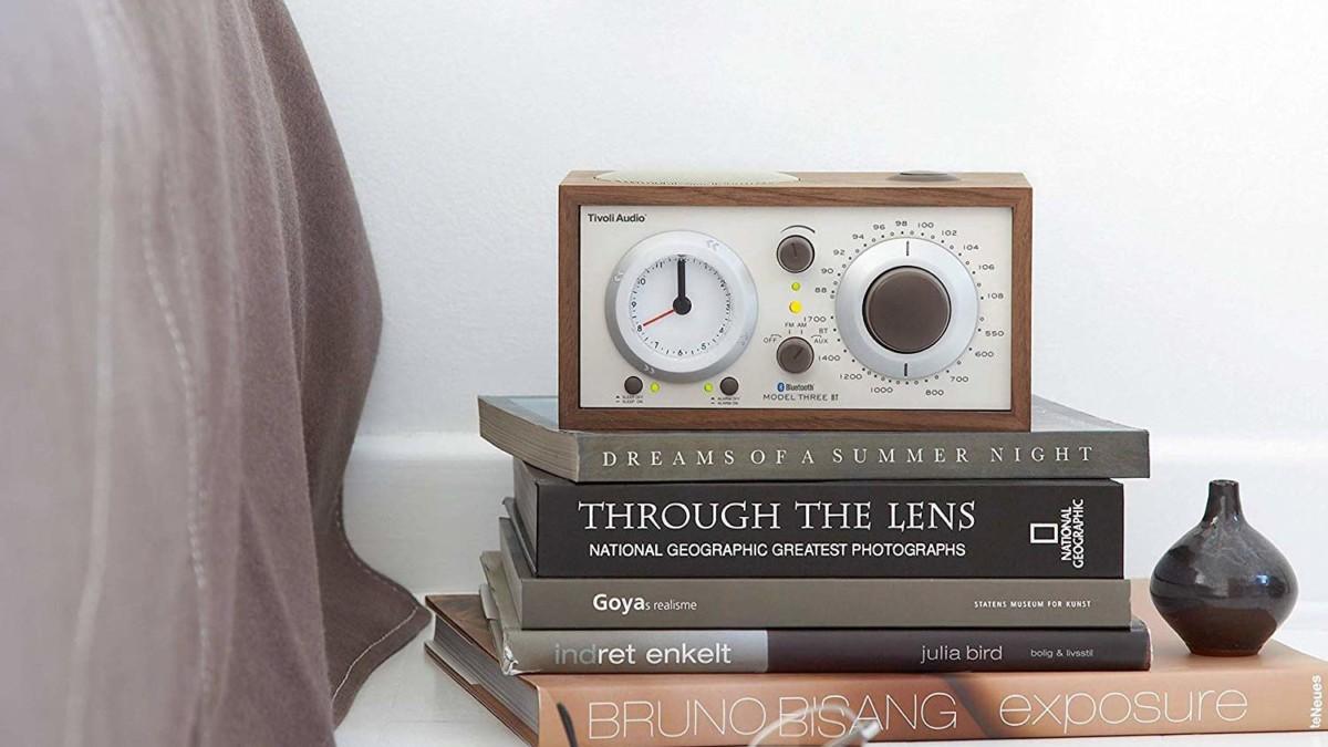Tivoli Audio Model Three BT Bluetooth Clock Radio provides a high-fidelity wake-up call