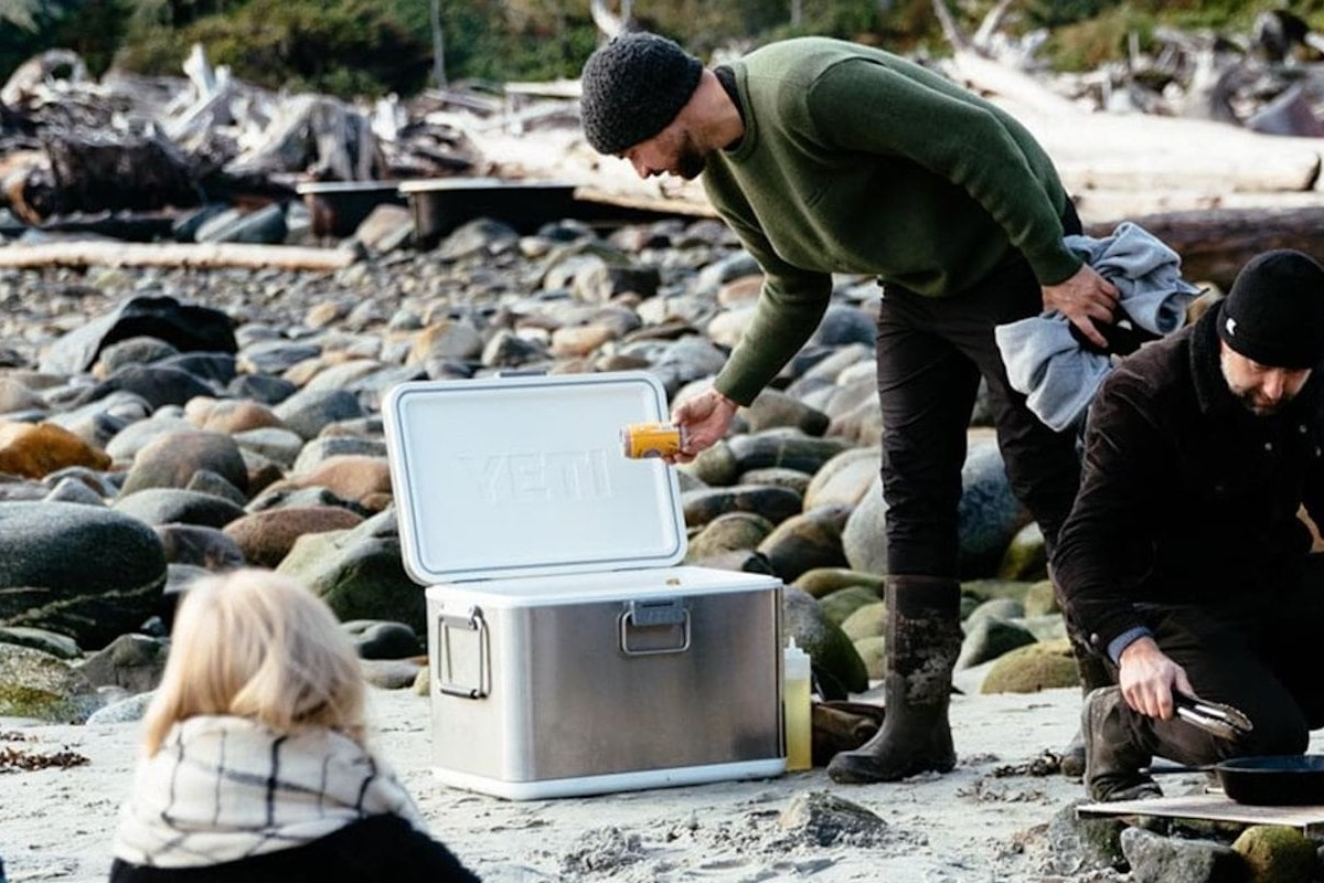 YETI V Series Stainless Steel Cooler uses vacuum insulation to keep your food cold